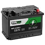 WINTER Premium Autobatterie 12V 65Ah 610A/EN statt 60Ah...
