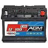 BIG AGM Batterie 100Ah C100 12V Solarbatterie...