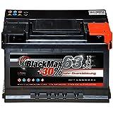 Autobatterie 12V 63Ah 580A BlackMax Starterbatterie...