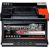 Autobatterie 12V 45Ah 420A/EN BlackMax PKW-Batterie...