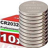 kraftmax 10er Pack CR2032 Lithium Hochleistungs-...