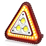 SunTop LED Dreieck Warnleuchte, USB Wiederaufladbare...