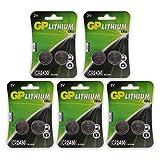 GP Batterien CR2430 3V Lithium Knopfzellen CR 2430 (3...