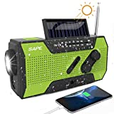 Solar Radio, Kurbelradio AM/FM Wiederaufladbare Dynamo...