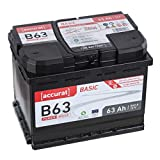 Accurat Autobatterie Starter B63 12V 63Ah 560A...