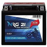 NRG PREMIUM Motorradbatterie 21Ah 12V 340A/EN YTX20L-BS...