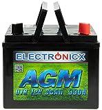 Electronicx AGM U1R 30AH 330A (EN) Batterie für...