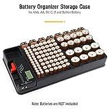Batterie Aufbewahrungsbox, Batterie-Organizer Box für...