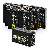 GP Lithium 9 Volt Block Batterien, 10 Jahre Longlife,...