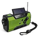 Volwco Solar Radio Kurbelradio, FM/NOAA Wetter Radio...