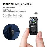 Mini Kamera mini Überwachungskamera FREDI 1080P HD...