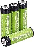 Amazon Basics AA-Batterien, wiederaufladbar,...
