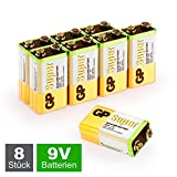 GP 9V Block Batterien (6LR61, MN1604, 9V E-Block) 9...