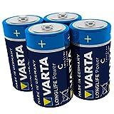 Varta Batterien 1,5 V Longlife C Alkaline Batterie, 4...