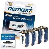 4x Nemaxx Lithium 9V Block Batterie Set für...