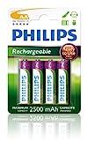 Philips Rechargeables Battery AA, 2500mAh Nickel-Metal