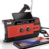Raddy SW3 Kurbelradio Tragbares Solar Radio Notfall AM...