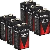 kraftmax 6X 9V Block Lithium Hochleistungs- Batterien...