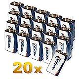 20x Nemaxx Lithium 9V Block Batterie Set für...