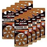 ANSMANN Hörgerätebatterien 312 braun 60 Stück - Zink...