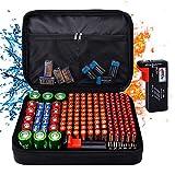 Batterie-Aufbewahrungsbox Batterie-Organizer mit...